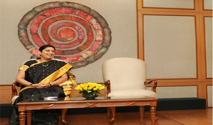 Textile sector growing exponentially, has more potential: Smriti Irani
