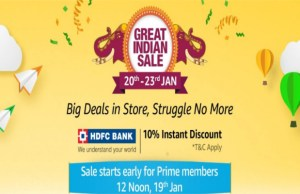 Amazon.in announces Amazon Great Indian Sale from January 20-23
