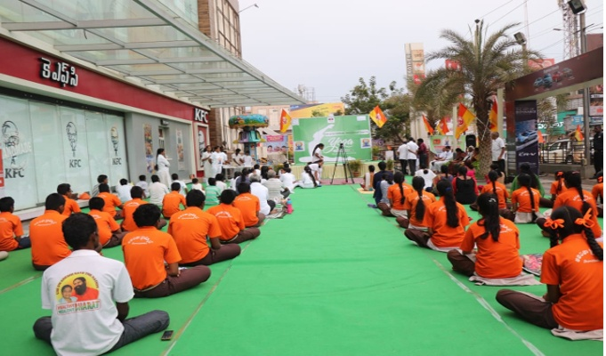 MGB Felicity Mall celebrates Yoga Day