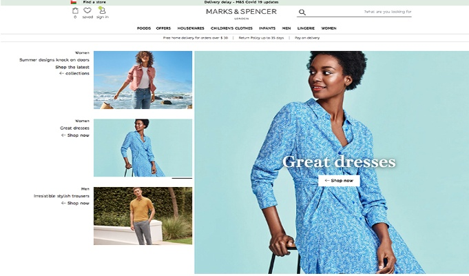 Marks & Spencer launches e-commerce sites in Bahrain and Oman