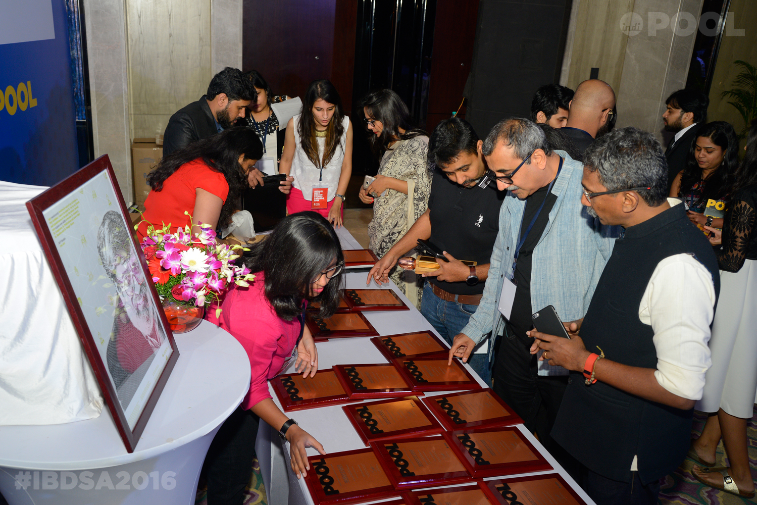 India's Best Design Studio Finalists collecting their certificates