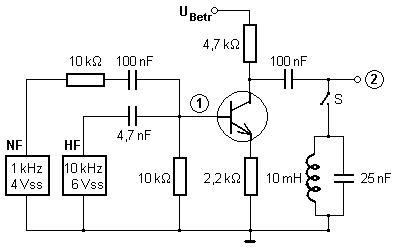 Amplitude modulation by selective transistor amplifier