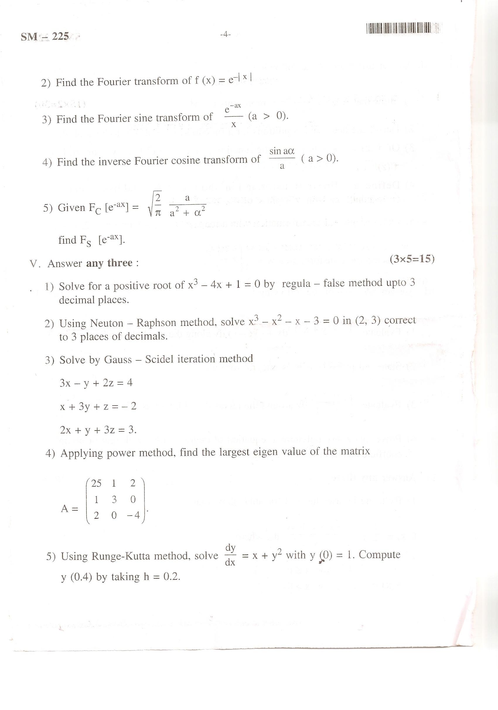 Bangalore University VI Semester B.A./B.Sc. Examination