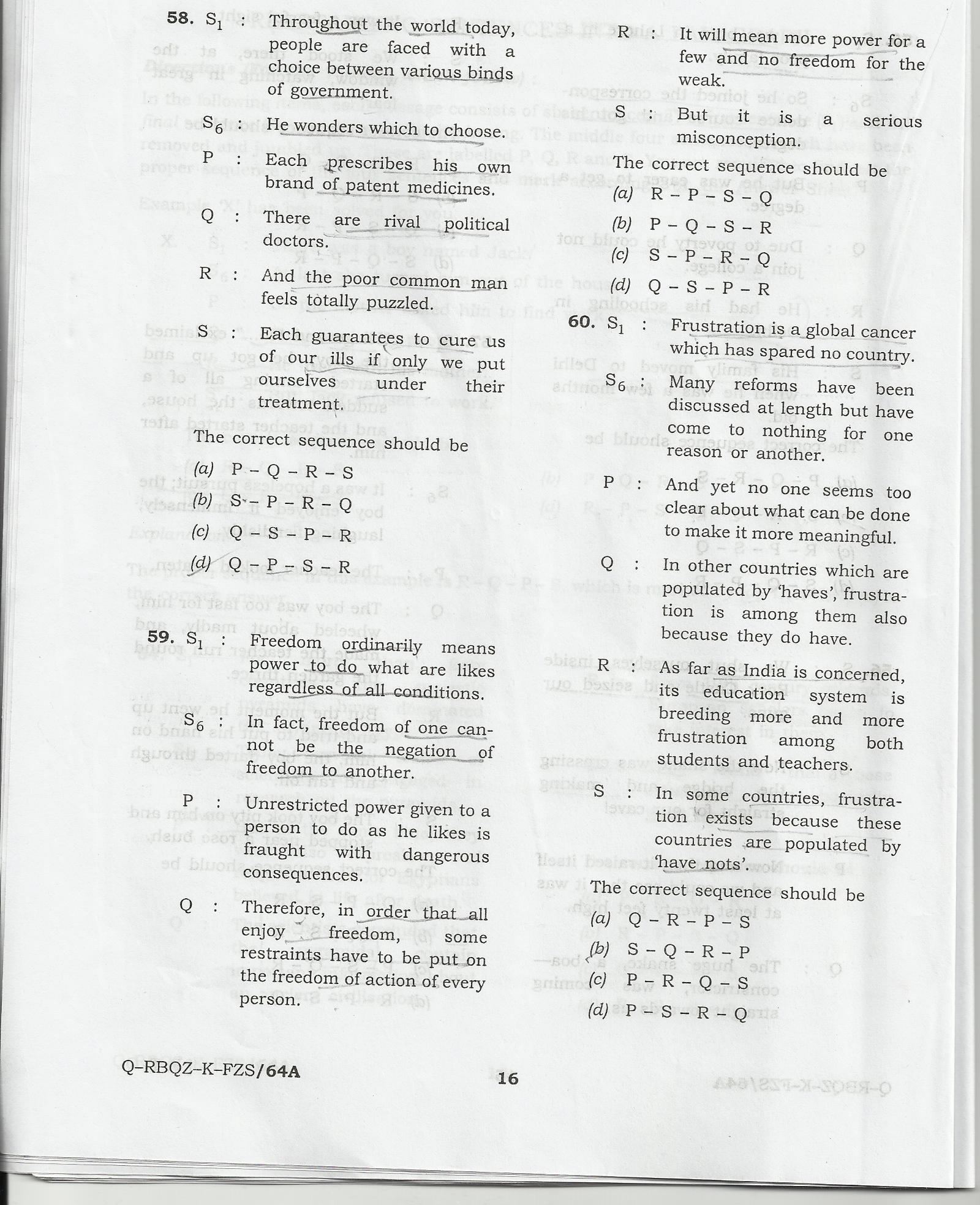 Special Class Railway Apprentice Examination 2010 (S.C.R.A