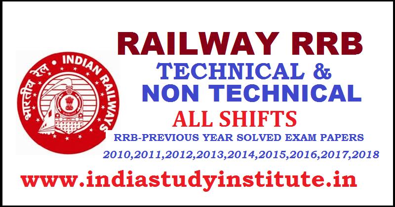 Rrb Non Technical Question Paper Pdf