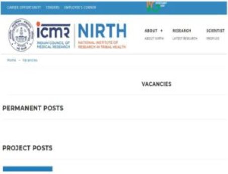 NIRTH, Jabalpur Recruitment 2019: Walk-in-Interview for 10 Lab Attendant and Other Posts