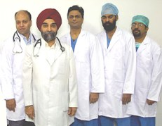 Doctors at We Care Health Services, India