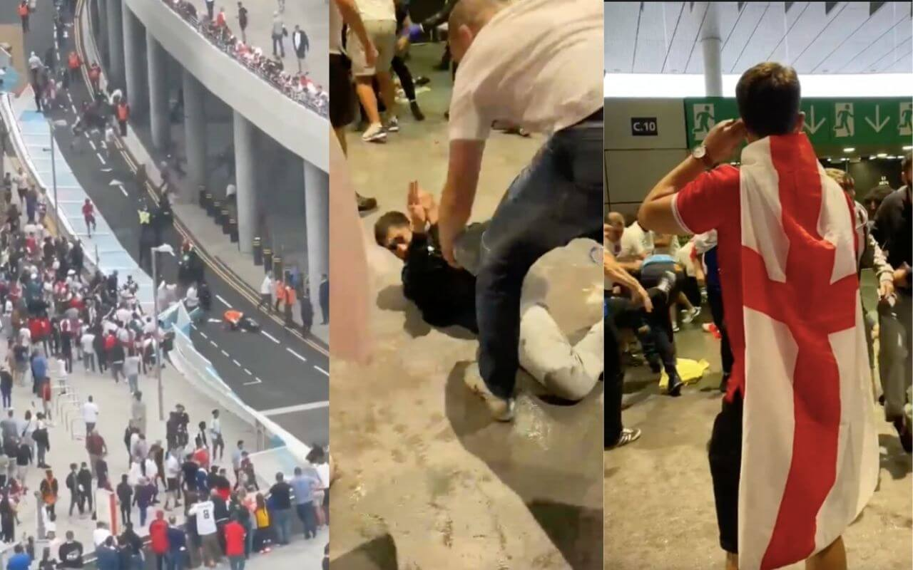English Fans Thrashes The Italians After Losing Euro 2020 at Wembley