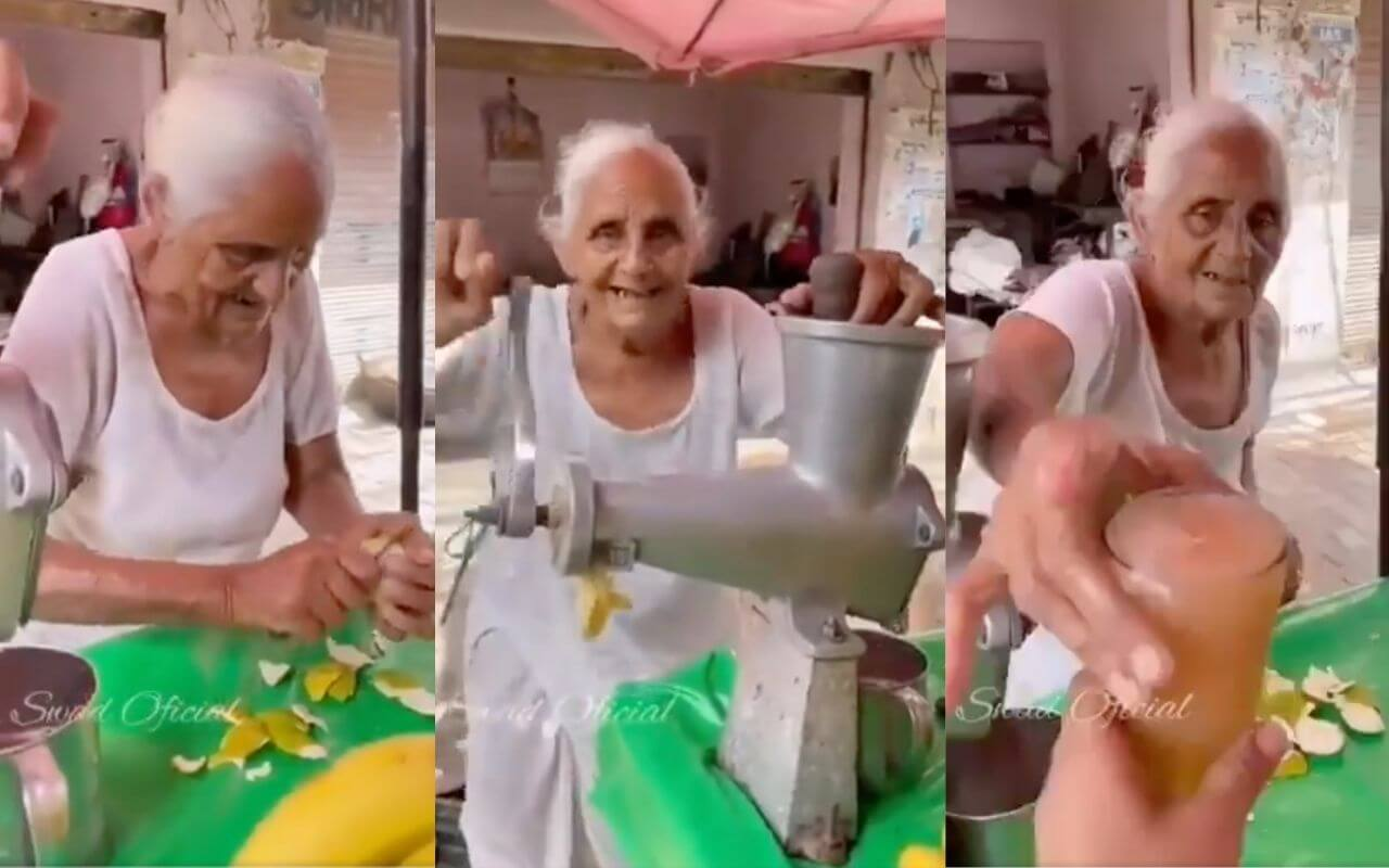 80-Year-Old Selling Juice