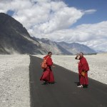 Monks in Nubra Valley