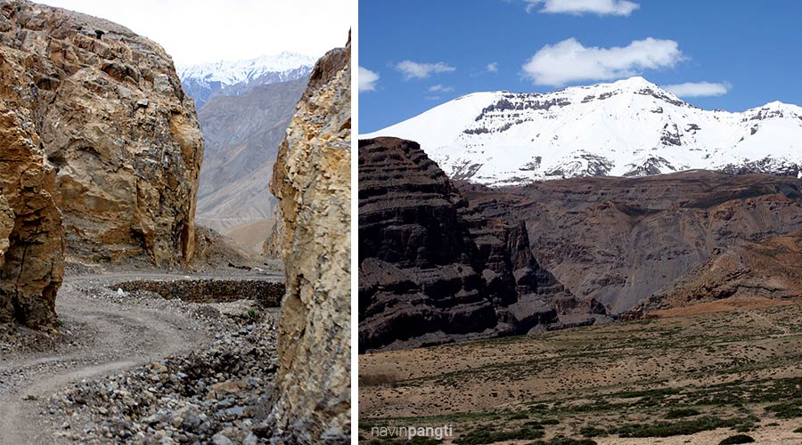 Harsh terrain near Kaza