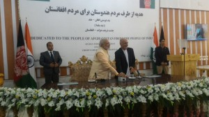 Modi-Ghani inaugurate dam