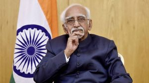 Tunisia: Vice President Hamid Ansari at Tunisian Institute for Strategic Studies in Tunisia on Friday. PTI Photo by R Senthil Kumar (PTI6_3_2016_000246A)
