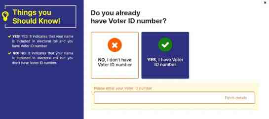 i have voter id card number