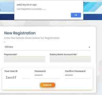 intra haryana new registration application form