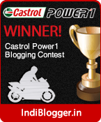 The Castrol Power1 IndiBlogger Contest Winner