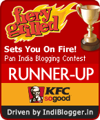 KFC Fiery Grilled IndiBlogger Contest Runner-up