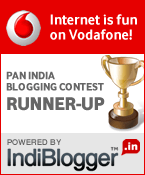 Vodafone IndiBlogger Contest Runner-up!