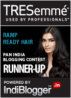 TRESemmé Ramp Ready Hair - IndiBlogger Contest Runner-up