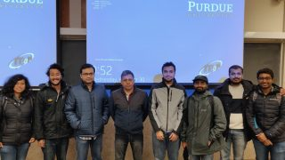 Anuj Dhar with Students at Perdue