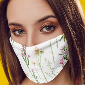 Designer Face Mask - Flower- 11