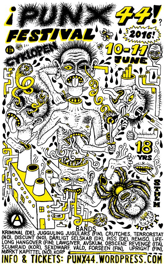 Poster for Punx 44 Festival 2016