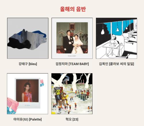 한국대중음악상 올해의 음반