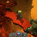 Torchlight-screenshot-E3-bridge-fight-troll-lava