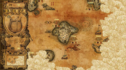 Ancient Traders board game indie video game map