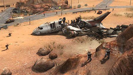 APOX game screenshot - downed airplane
