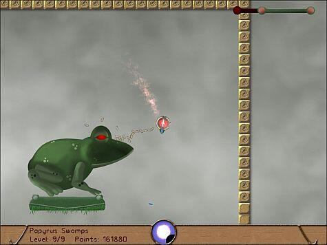 Bennu game screenshot - this frog is tougher than it looks patience is needed