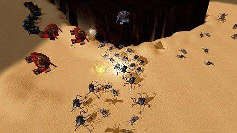 achron screenshot - bugs everywhere