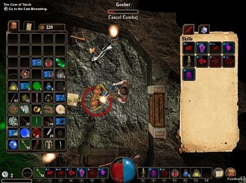 Driftmoon RPG - inventory and HUD screenshot