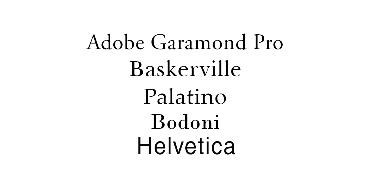 Best Fonts for Books | Indie Publishing Group Canada
