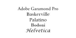 Body Fonts