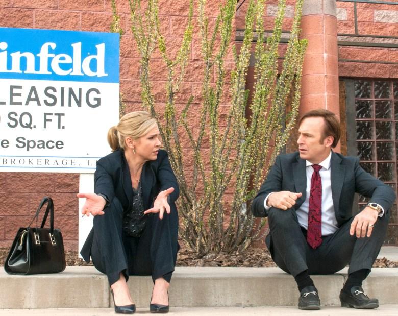 "Rhea Seehorn and Bob Odenkirk in ""Better Call Saul"""
