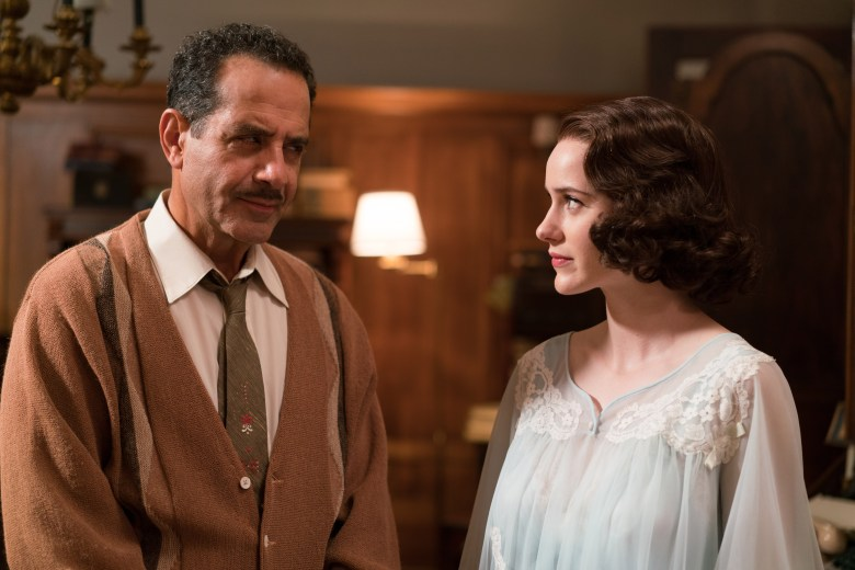 "Tony Shalhoub and Rachel Brosnahan, ""The Marvelous Mrs. Maisel"""