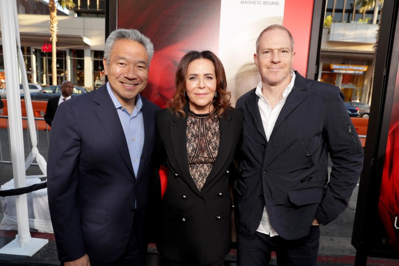 Kevin Tsujihara, Denise Di Novi, Toby Emmerich'Unforgettable' film premiere, Arrivals, Los Angeles, USA - 18 Apr 2017