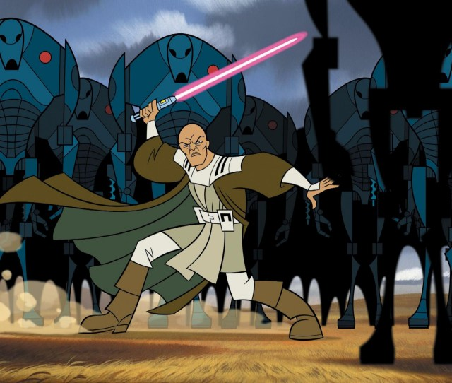 Mace Windu In Star Wars Clone