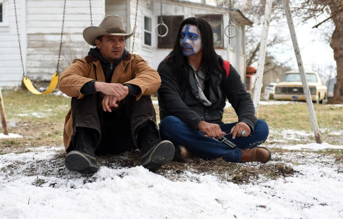 """Jeremy Renner and Gil Birmingham in 'Wind River"""""""