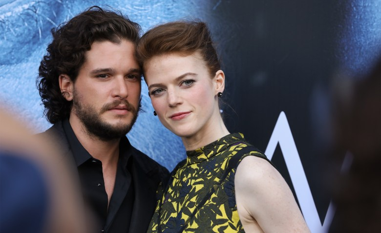 "Kit Harington and Rose Leslie at ""Game of Thrones"" Season 7 premiere"