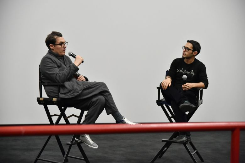 Joe Wright, Eric Kohn'The Darkest Hour' film screening presented by IndieWire and Focus Features Sneak Peek, New York, USA - 13 Nov 2017