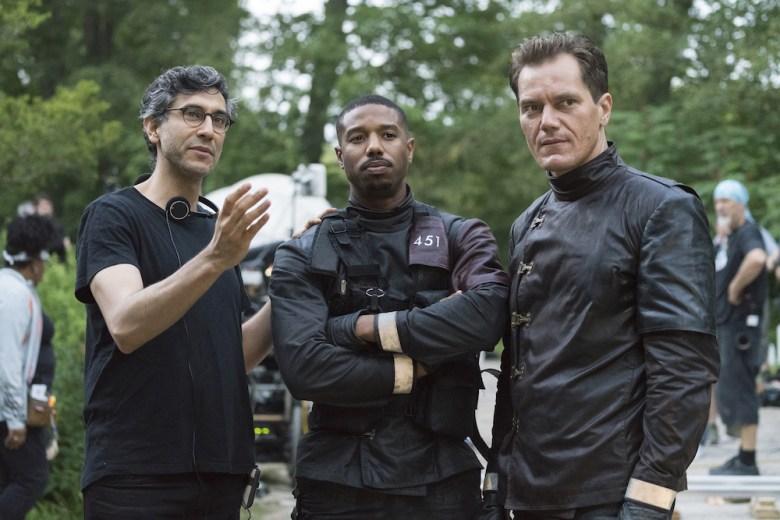 """Fahrenheit 451"" Ramin Bahrani, Michael B. Jordan, Michael Shannon"