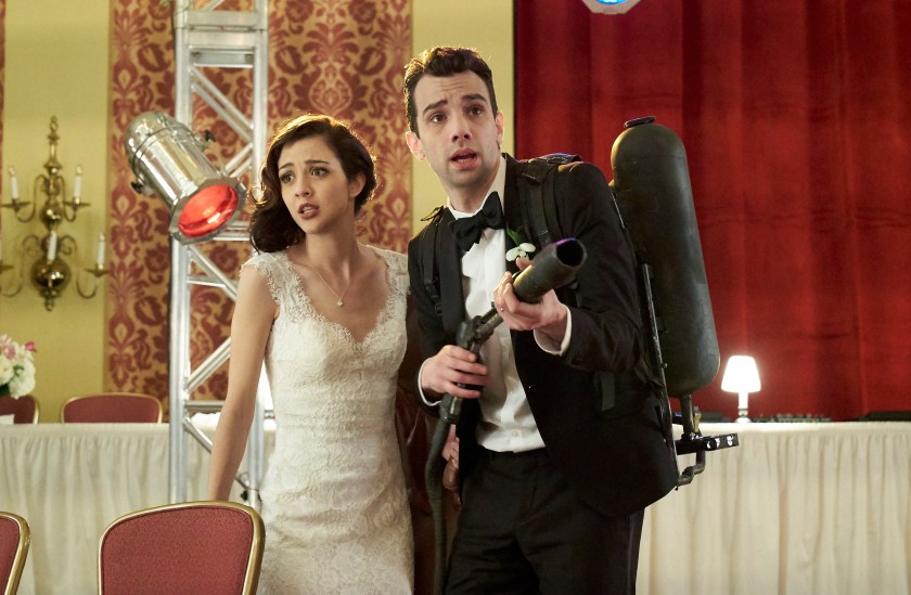 "MAN SEEKING WOMAN -- ""Blood"" -- Season 3, Episode 10 (Airs March 8, 10:30 pm e/p) Pictured: (l-r) Katie Findlay as Lucy, Jay Baruchel as Josh. CR: Michael Gibson/FXX"