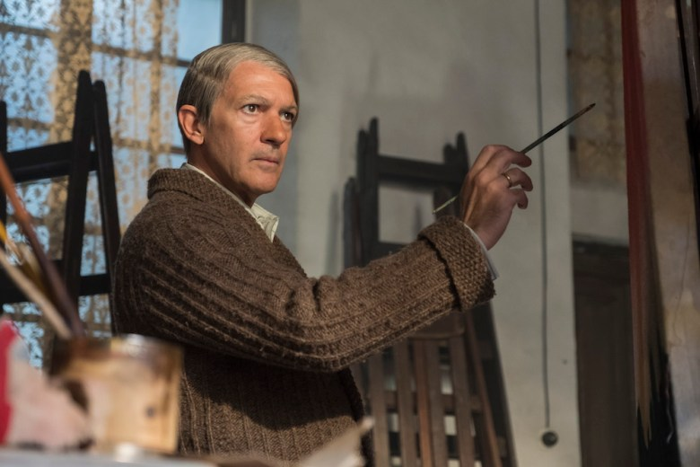 Budapest, Hungary - Antonio Banderas stars as Pablo Picasso in Season 2 of National Geographic's Genius (National Geographic/Dusan Martincek)