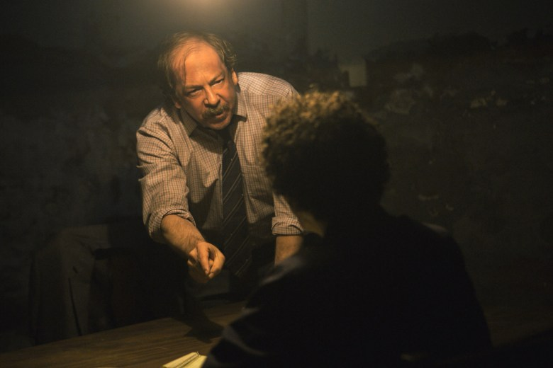 "THE LOOMING TOWER -- ""Mistakes Were Made"" - Episode 103 - The FBI finds one of the surviving terrorists and discovers a game changing lead in Nairobi, while the CIA's retaliation plan is approved. Robert Chesney (Bill Camp), shown. (Photo by: Casey Crafford/Hulu)"