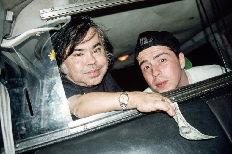 Hervé Villechaize and Sacha Gervais in 1993.
