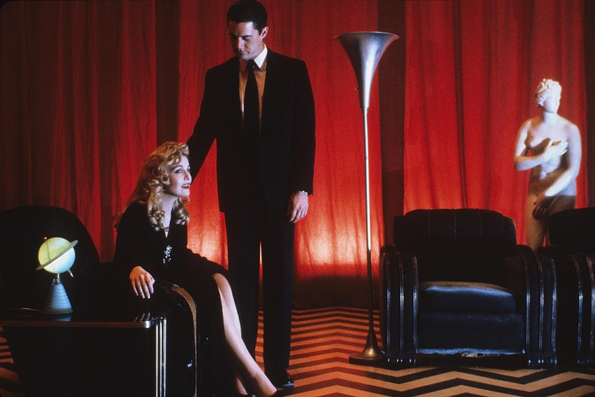 Editorial use only. No book cover usage.Mandatory Credit: Photo by Lynch-Frost/Kobal/REX/Shutterstock (5880137b)Sheryl Lee, Kyle MaclachlanTwin Peaks - Fire Walk With Me - 1992Director: David LynchLynch-Frost/Ciby 2000USAScene StillDramaTwin Peaks (Les derniers jours de Laura Palmer)