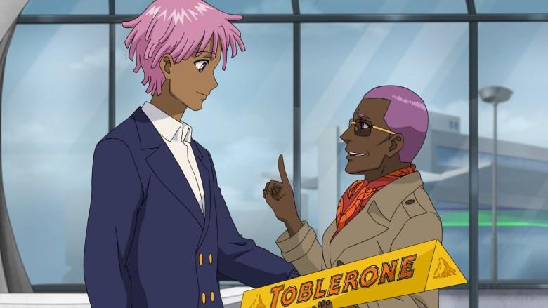 Neo Yokio Pink Christmas Netflix Toblerone