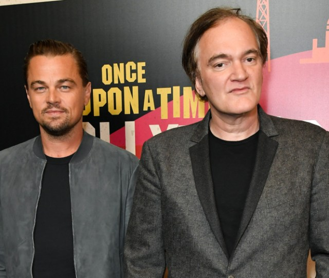 Leonardo Dicaprio And Quentin Tarantinoonce Upon A Time In Hollywood Presentation Arrivals